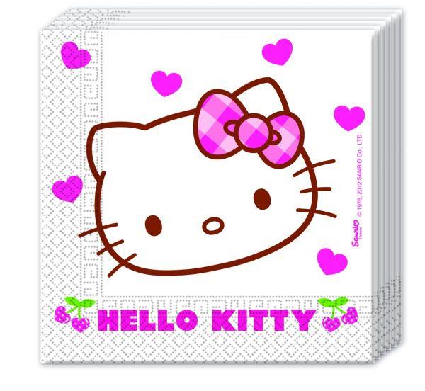 Hello Kitty Hearts Servietten