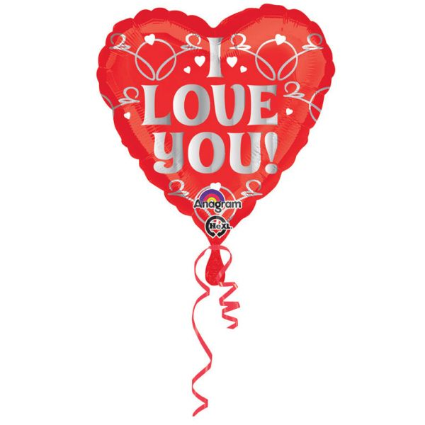 I Love You Herz Folienballon 43 cm