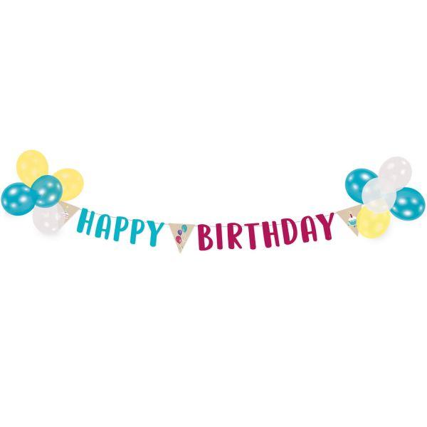 Happy Birthday Dekoset Ballons Und Banner