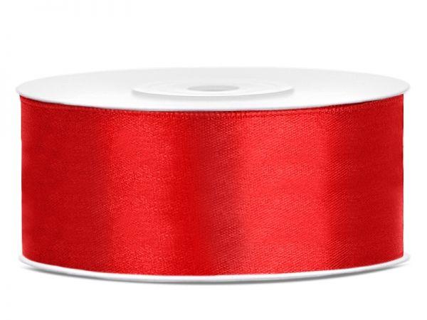 Satinband Rot