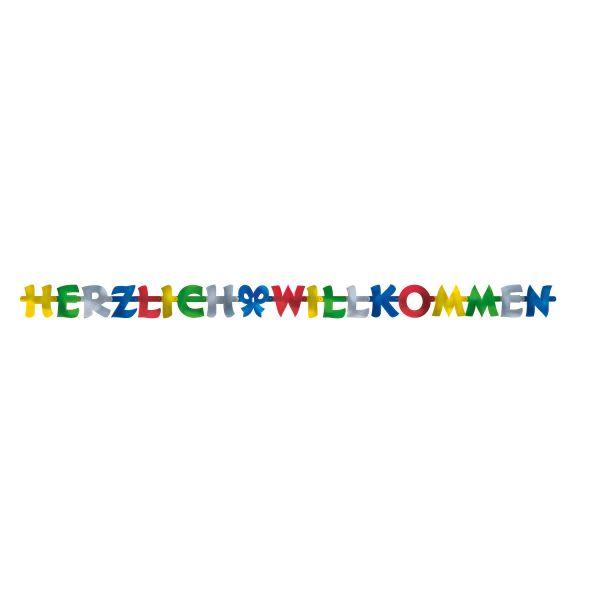 Herzlich Willkommen Banner 200 X 11 cm