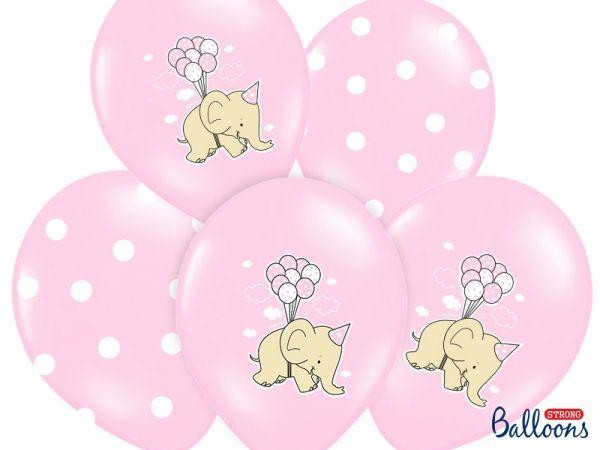 Ballon Elefant Rosa Mix/6