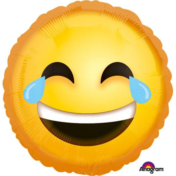 Lachendes Emoji Folienballon 43 cm