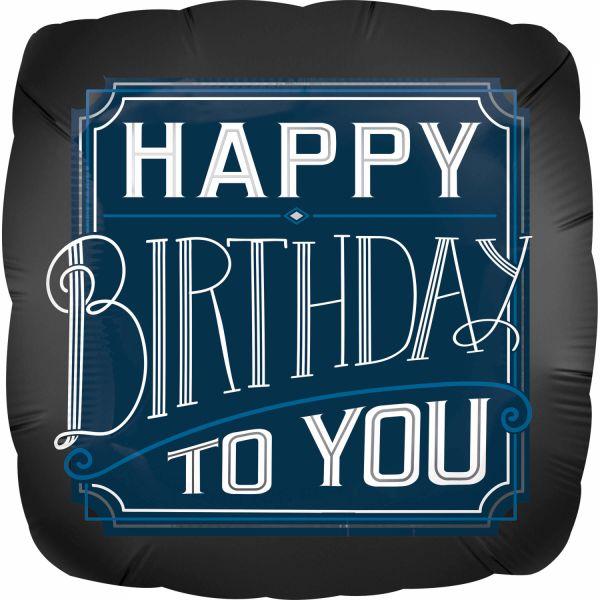 Happy Birthday Man Folienballon 43 cm