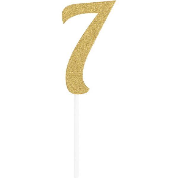 Gold Glitter Birthday Cake Topper 7