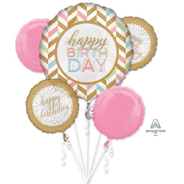 Bouquet Pastel Confetti Folienballon/5
