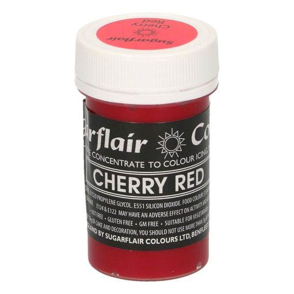 Sugarflair Pastenfarbe Pastel - Cherry Red