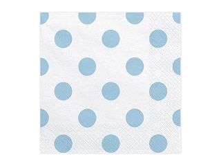 Servietten Dots light blue