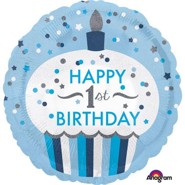 1St Birthday Cupcake Boy Standard Folienballon