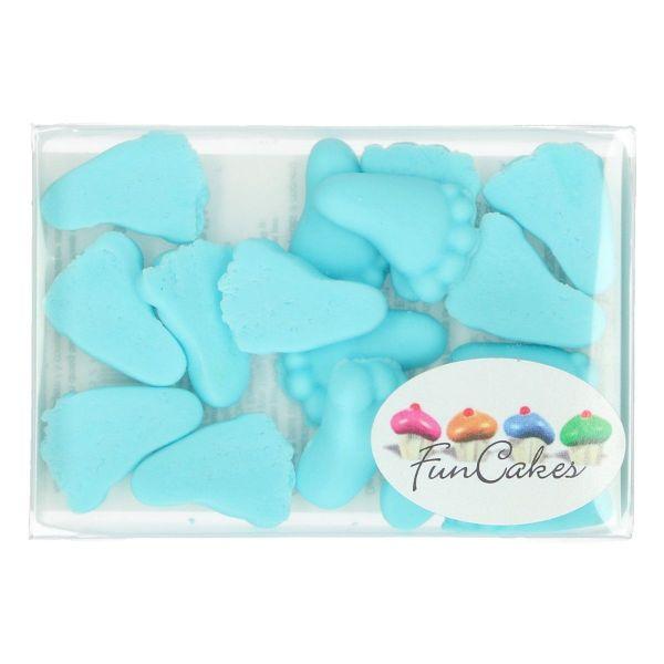 Funcakes Babyfüße blau