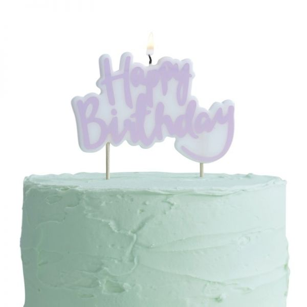 Pink Happy Birthday Kerze Pick And Mix