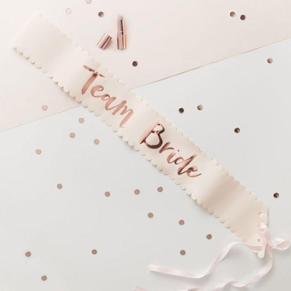 Team Bride - Schärpen - rosegold/pink