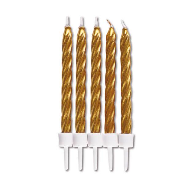 10 Kerzen - gold