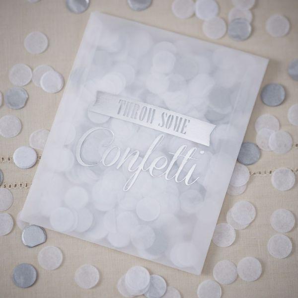 Confetti Silber Vintage Affair