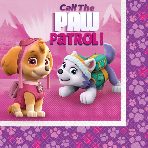 Paw Patrol Pink Servietten