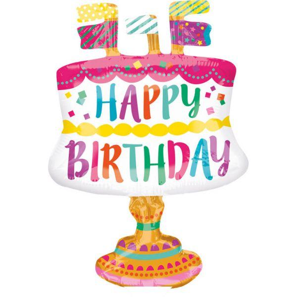 Birthday Cake Mini-Folienballon