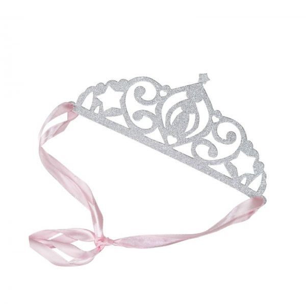 Silver Glitter Tiaras Princess Party