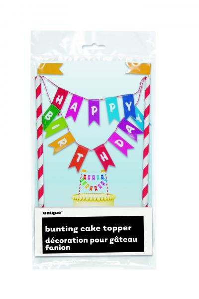 Rainbow B-Day Cake Topper