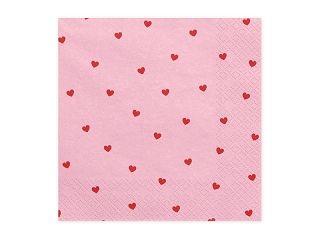 Servietten Hearts Pink