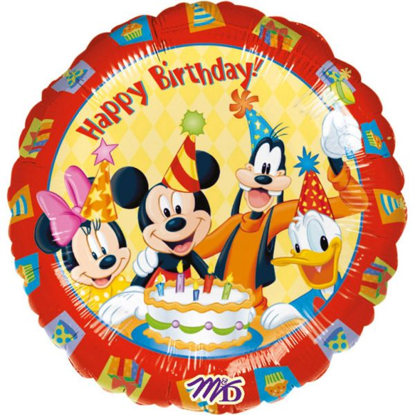 Mickey & Friends Birthday Folienballon 45 cm