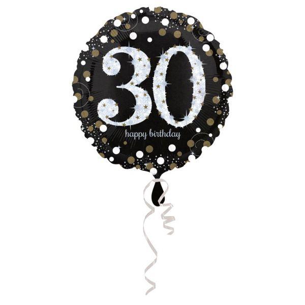 Sparkling Birthday 30 Folienballon 43 cm