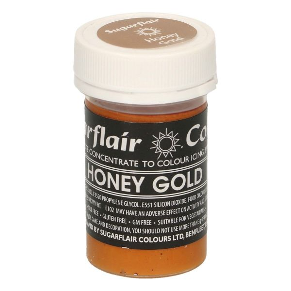 Sugarflair Pastenfarbe Pastel - Honey Gold