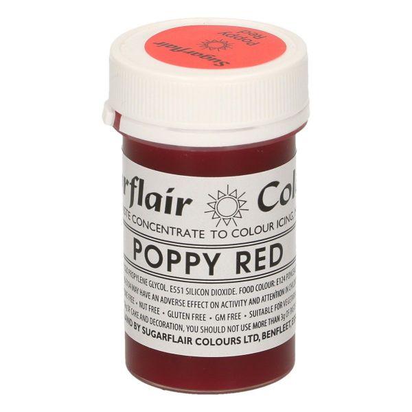 Sugarflair Pastenfarbe - Poppy Red