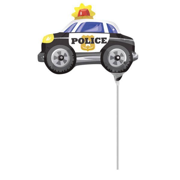 Polizeiauto Mini-Folienballon