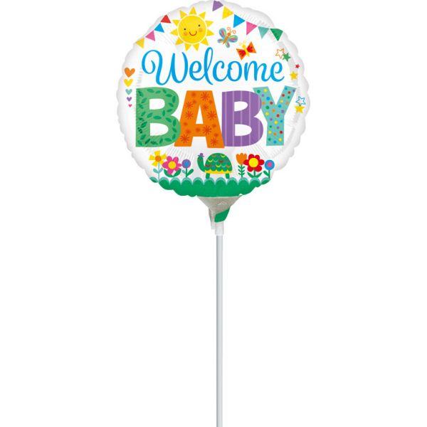 Welcome Baby Mini-Folienballon