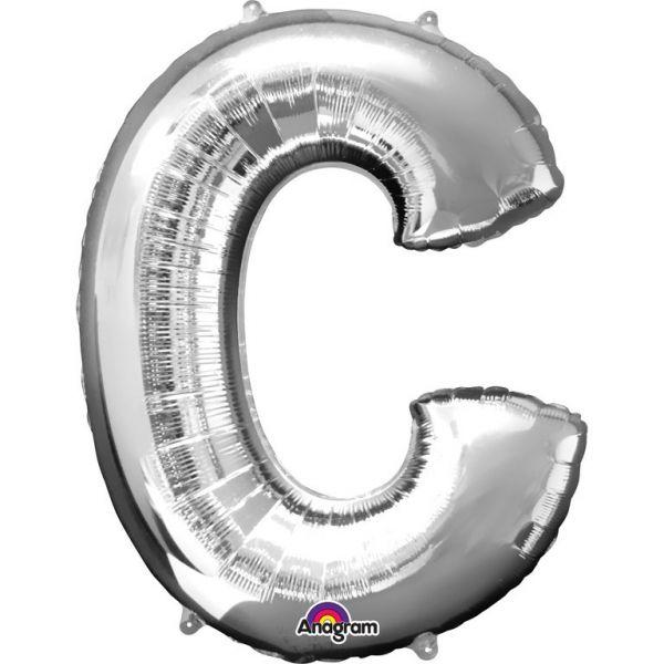 Buchstabe Silber - C Folienballon 63 X 81 cm