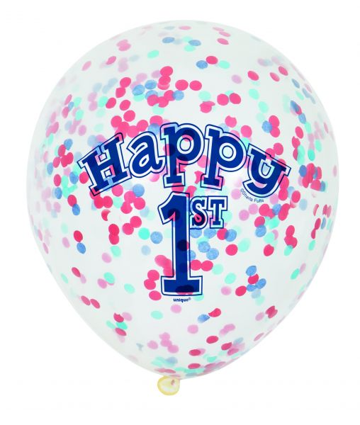Nautic 1st Birthday Clear Ballon Confetti/6