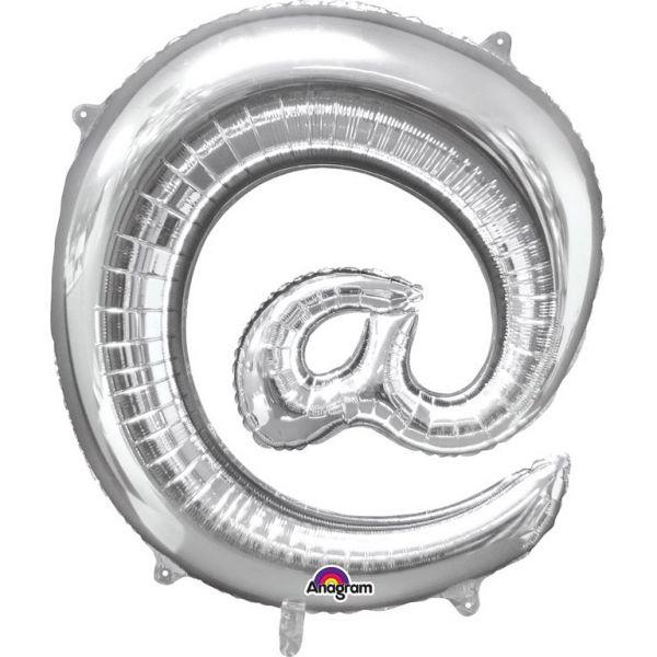 Symbol Silber @ - Folienballon 76 X 81 cm