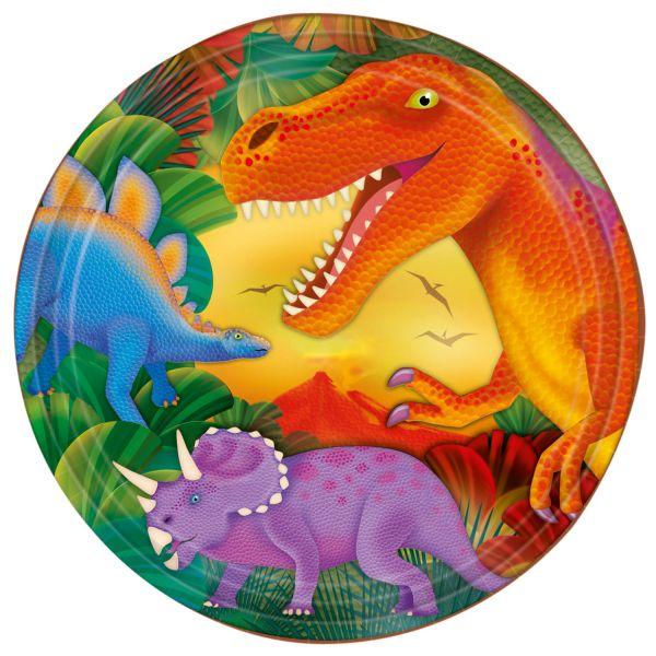 Prehistoric Party Pappteller 23 cm/8