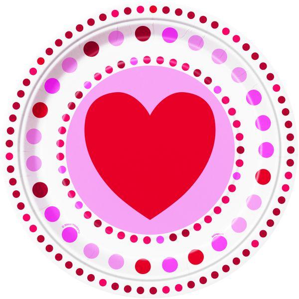 Radiant Hearts Pappteller 23 cm/8
