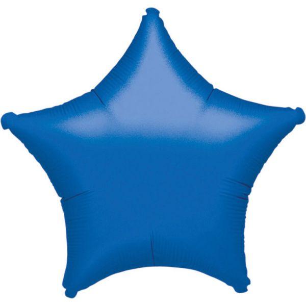 Stern Blau Metallic Folienballon 43 cm