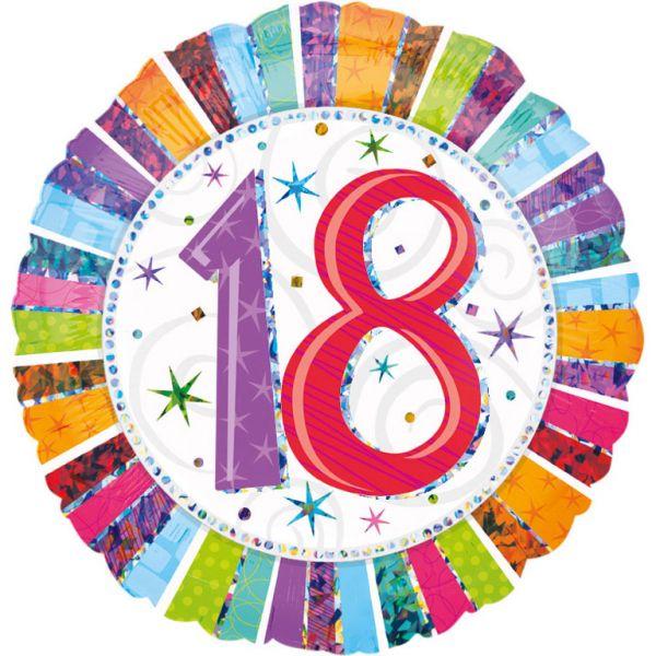 Radiant Birthday 18 Folienballon 43 cm