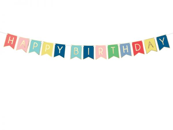Happy Birthday Banner Mix 15 X 175 cm