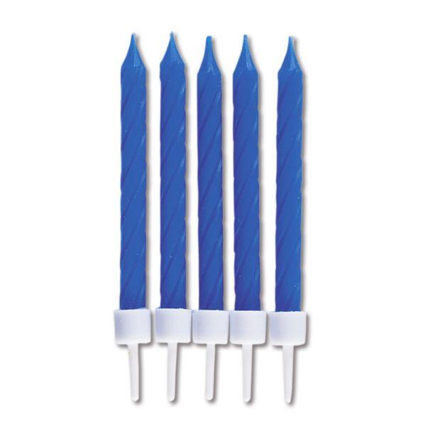 10 Kerzen - blau