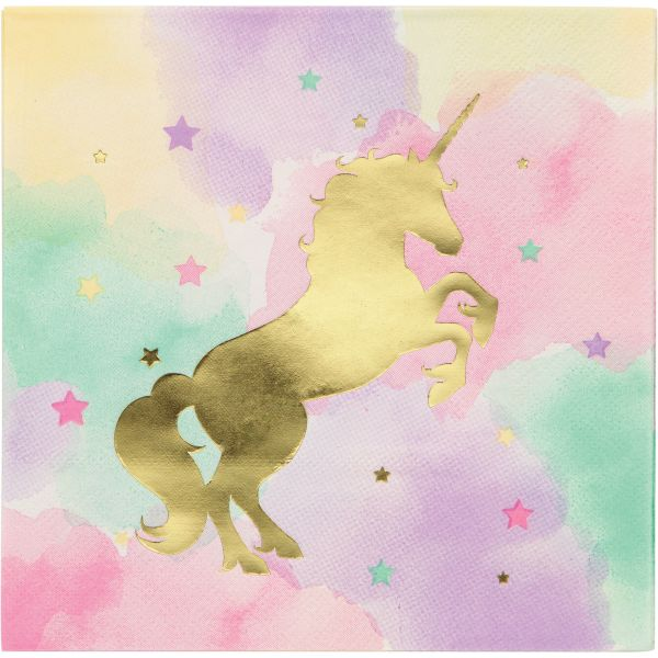 Unicorn Sparkle Foil Servietten