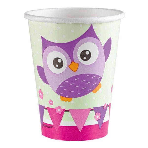 Happy Owl 8 Becher