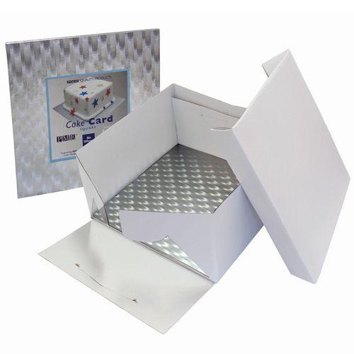 PME Cake Box & Cake Board eckig 3 mm - 27,5x27,5x15 cm