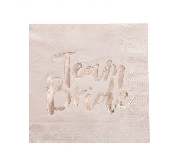 Rose Gold Hen Party Servietten - Team Bride