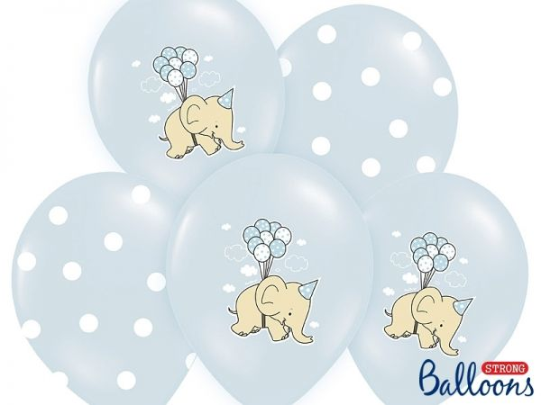 Ballon Elefant Blau Mix/6