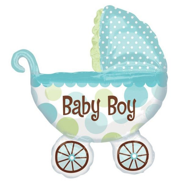 Baby Buggy Boy Folienballon 71 X 79 cm