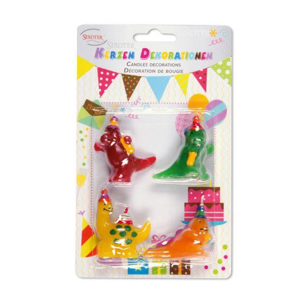 Kerzen-Set Dinosaurier