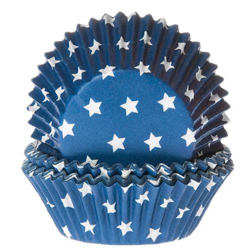 HOM Muffin Förmchen Sterne Blau