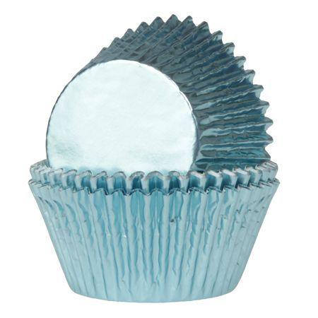 HOM Muffinförmchen Folie Blau