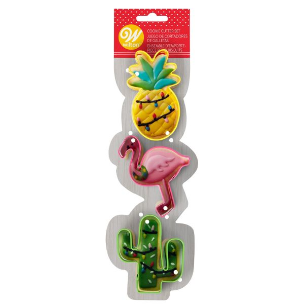 WQilton Cookie Cutter Flamingo Cactus Pineapple