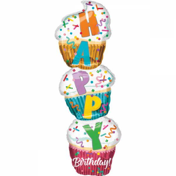 Cupcake Folienballon 33 X 104 cm