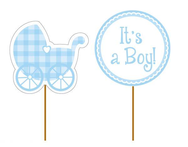 It'S A Boy Cupcake Picks